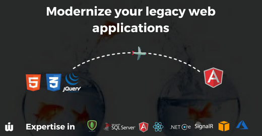 Modernize your legacy web applications